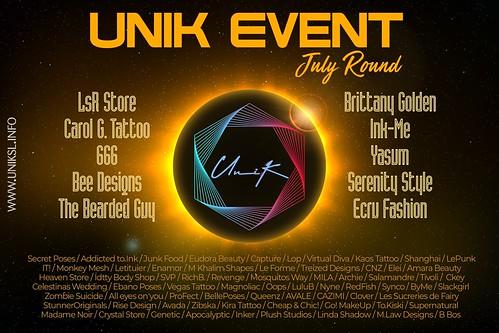 UniK - Designers LineUp - July Round