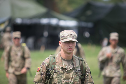 Cadets from 4th Regiment, Advanced Camp during Branch Orientation