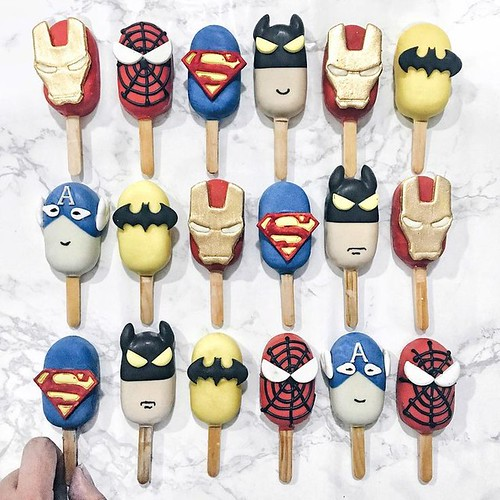 Superhero Popsicles by Shaun Teo (@shaunteocreations)
