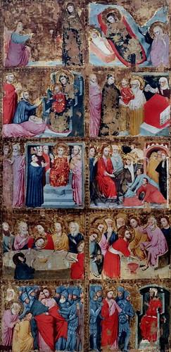 IMG_7370B Maestro di S Nicolo degli albari vers 1320 Bologna  Storie di Cristo e santi   Stories of Christ and saints Bologna Pinacoteca Nazionale
