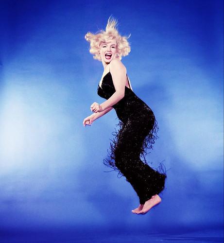 Marilyn Monroe fotografiada por Philippe Halsman, 1959. Jump