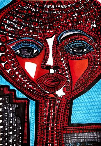 Dibujos expresivos artista contemporanea Mirit Ben-Nun