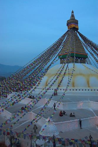 Nepal - Kathmandu - Boudhanath at dusk 01