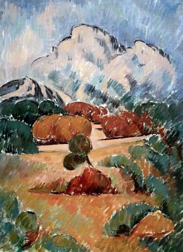 IMG_6633B Jean Planque 1910-1998 La Sainte Victoire, de jour.  The Sainte Victoire, by day. Vers 1951 Aix en Provence. Musée Granet.