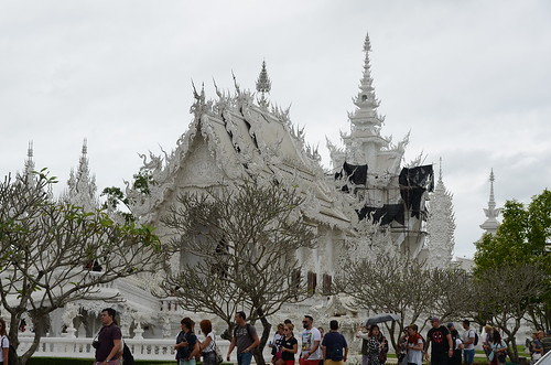 A white Thai wat is actually most unusual