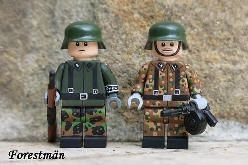 Schüzte and Stellvertretender Gruppenführer, custom Lego