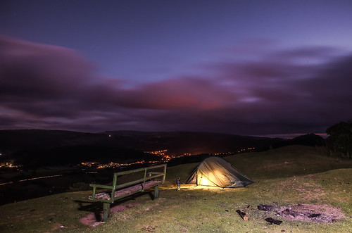 Panoramic View wild camp.