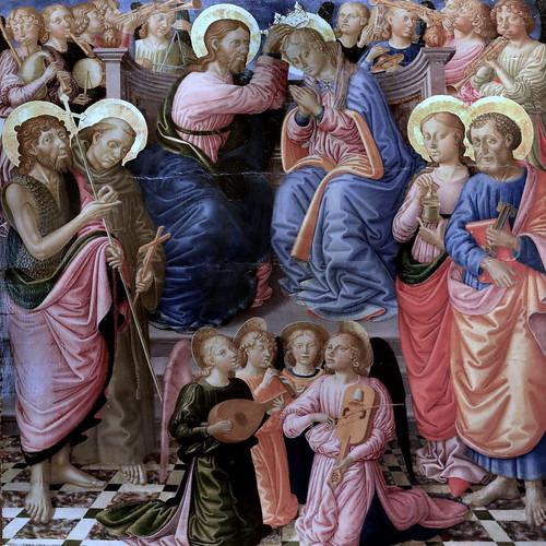 IMG_1201F Zanobi di Machiavelli. 1418-1479  Florence et Pise Le Couronnement de la Vierge The Coronation of the Virgin Dijon Musée des Beaux Arts