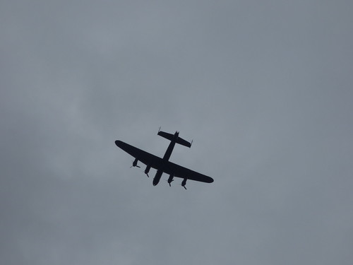 Avro Lancaster PA474 flying over the Bullring and Digbeth