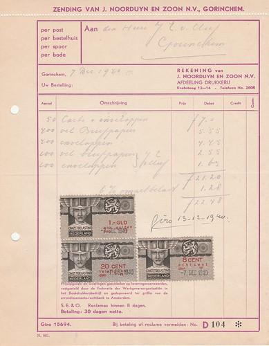 Nota (22) J. van Noorduyn en Zoon N.V. 1940