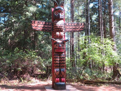 Guardian Watchmen Totem Pole Hornby island.