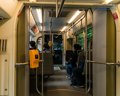 Inside A Seattle Streetcar During A Wet Day in July