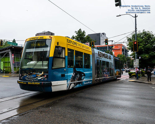 .@KenmoreAir Seattle Streetcar Running the Streets of Seattle
