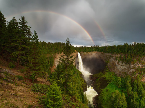 Helmcken Falls with Rainbow, Wells Gray Park, BC