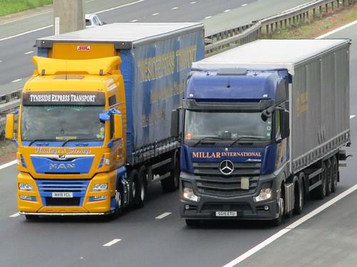 M.A.N v Mercedes Actros, Tyneside Express Transport (NV19YCL) & Millar  International Transport (SG15ETU)