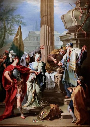 IMG_2100E Giovanni Battista Pittoni 1687-1767 Venice Le sacrifice de Polyxene The sacrifice of Polyxena 1730s Madrid Thyssen-Bornemisza.