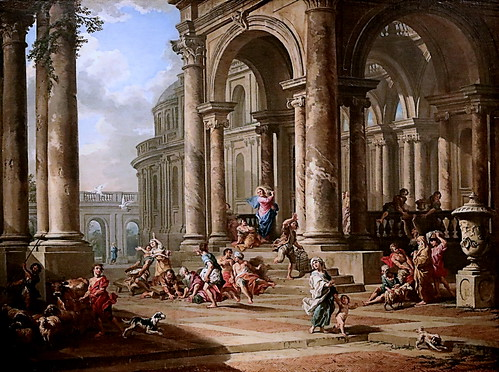 IMG_2100A Giovanni Paolo Panini 1691-1765 Rome L'expulsion des changeurs du temple The expulsion of the Money-Changers from the Temple 1724 Madrid Thyssen-Bornemisza.
