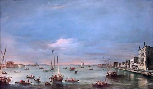 IMG_1185 Francesco Guardi 1712-1793 Venice Vue du canal de la Giudecca et du Zattere vers 1758 View of Giudecca Canal and Zattere ca 1758 Madrid Thyssen-Bornemisza.
