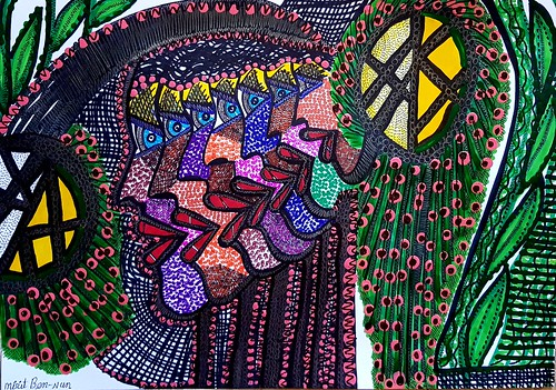 Mirit Ben-Nun artista Israelista puntillista