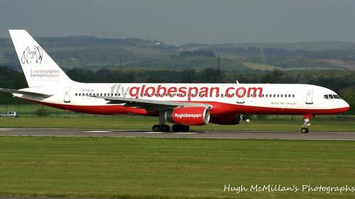 G-CEJM, at Glasgow Airport, Scotland.