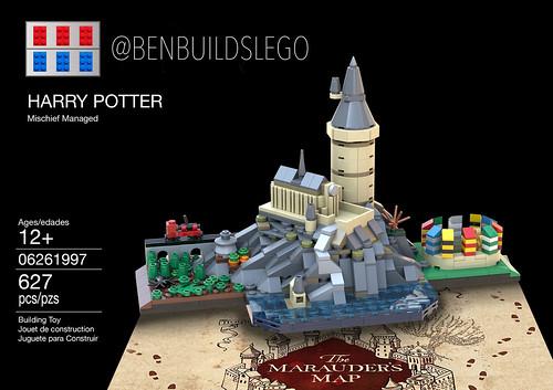 Lego Harry Potter - Hogwarts Skyline MOC (Box)