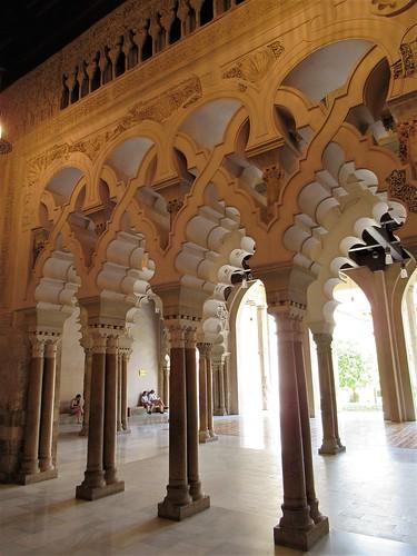 Porticoes, north side halls, Aljafería Palace, Zaragoza, Spain
