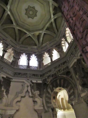 Dome, interior of mosque, Aljafería Palace, Zaragoza, Spain