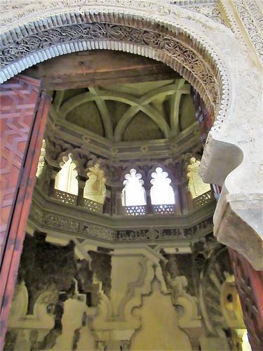View into mosque, Aljafería Palace, Zaragoza, Spain