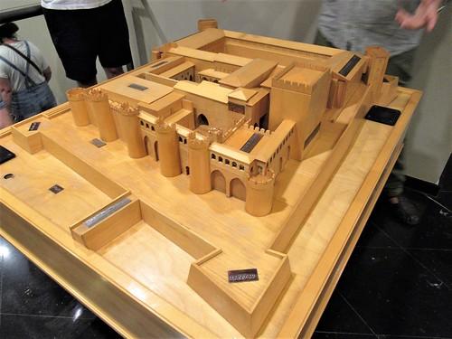 Scale model, Aljafería Palace, Zaragoza, Spain