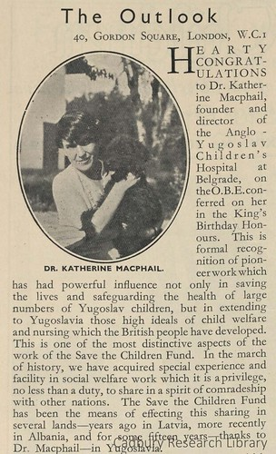 Dr Katherine Macphail, Cadbury Research Library