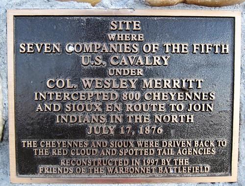 U.S. Cavalry Monument Plaque - Warbonnett Historic Site ~ Montrose, Nebraska