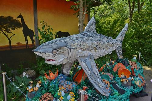 Sylvia the Silvertip Shark, Washed Ashore-Art to Save the Sea, Toronto Zoo, Toronto, ON