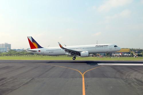 Philippines A321Neo RP-C9937 landing MNL/RPLL