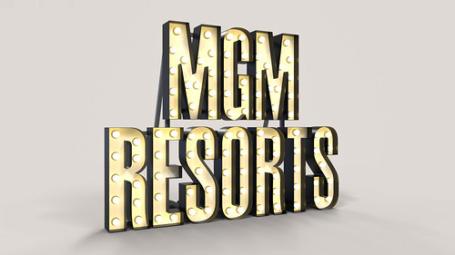 3D Rendered Marquee Letters for MGM Resorts