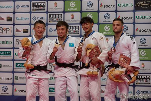 -60 kg 1e: Yeldos Smetov (KAZ), 2e Boldbaatar Ganbat (MGL), 3e Ying Wei Yang (TPE) & Tornike Tsjakadoea (NED)