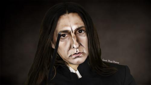 Severus Snape (Alan Rickman) from Harry Potter - Makeup Transformation