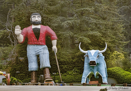 trees of mystery ,Paul Bunyan and Babe the Blue Ox