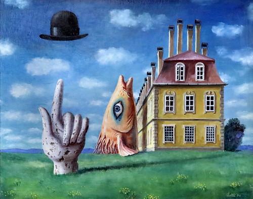 IMG_3455 Wolfgang Lettl 1919-2008 Augsbourg  Der Hut des Herrn Magritte  The hat of Lord Magritte  Le Chapeau de Monsieur Magritte 1976
