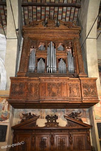 Orgel in der Santa Maria Della Neve in Sirmione, sie stammt aus dem achtzehnten Jahrhundert