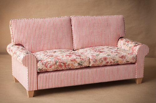 1/4 scale Doll Sofa with Down Cushions
