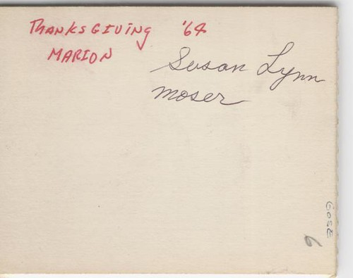 Moser, Susan Lynn - 1964 Thanksgiving - b (1)