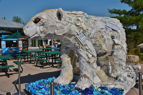 Poly the Polar Bear, Washed Ashore-Art to Save the Sea, Toronto Zoo, Toronto, ON