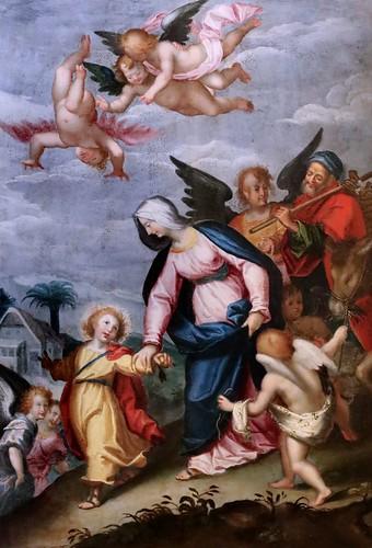 IMG_0061EE Samson Brulley 1560-1621 Besançon  La Nativité du chanoine Pourtier 1620 Scènes de la vie de la Vierge The Nativity of Canon Pourtier   Scenes from the life of the Virgin Besançon Musée des Beaux Arts