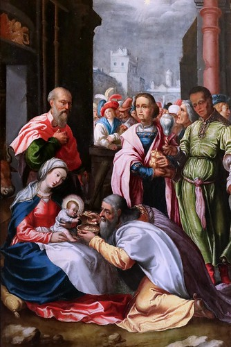 IMG_0061EBA Samson Brulley 1560-1621 Besançon  La Nativité du chanoine Pourtier 1620 Scènes de la vie de la Vierge The Nativity of Canon Pourtier   Scenes from the life of the Virgin Besançon Musée des Beaux Arts