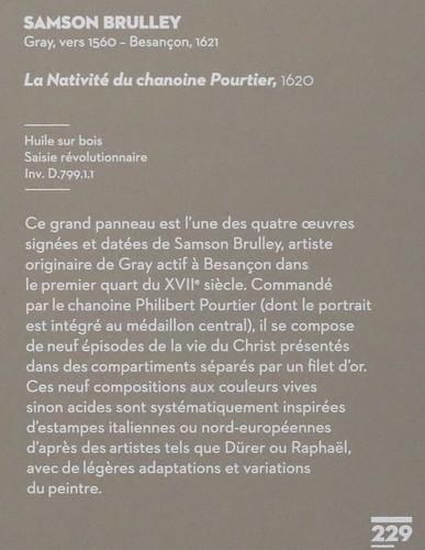 IMG_0061EA Samson Brulley 1560-1621 Besançon  La Nativité du chanoine Pourtier 1620 Scènes de la vie de la Vierge The Nativity of Canon Pourtier   Scenes from the life of the Virgin Besançon Musée des Beaux Arts