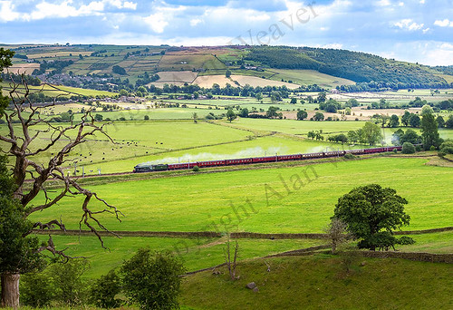 60163 Flying Scotsman races through Airedale with 'The Waverley' 7 july 2019