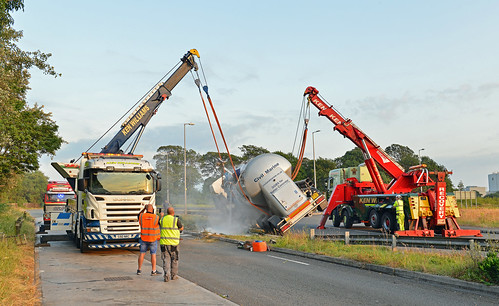 Accident of Overturned Lorry at Margam 12