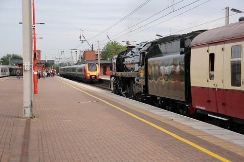 Old meets new at Wigan North Western 17th July2019 ©