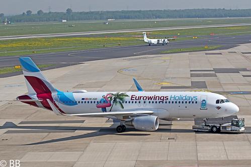 19-04-29, Eurowings Europe, Airbus A320-200, OE-IQD, Dusseldorf Airport