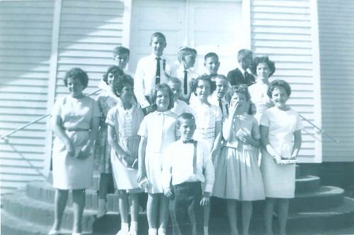 June 21, 1965: On the Steps of the Blumenfeld Church after confirmation